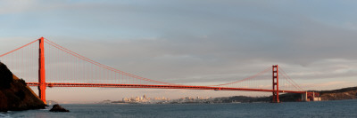 Suspension Bridge Across a Bay, Golden Gate Bridge, San Francisco, California, USA Photographic Print