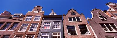 Low Angle View of Historic Buildings, Amsterdam, North Holland, Netherlands Photographic Print