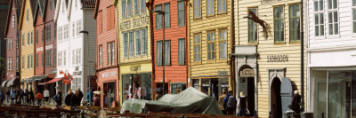 Buildings at a Harbor, Bryggen, Bergen, Hordaland County, Norway Photographic Print