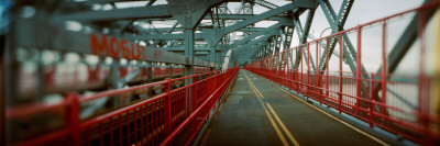 Road Across a Suspension Bridge, Williamsburg Bridge, New York City, New York State, USA Photographic Print