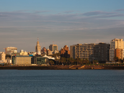 Buildings at the Waterfront, Montevideo, Uruguay Photographic Print