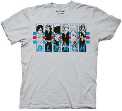 Bleach 5 - Characters in Frames with Stripes T-Shirt