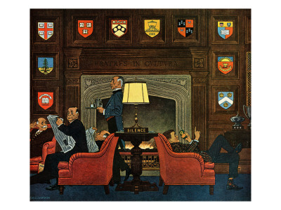 """""""Transitor Radio in the University Club,"""" September 29, 1962 Giclee Print by James Williamson"""