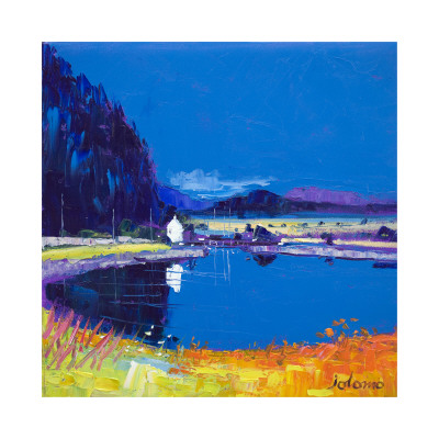 Dunardry Reflections Crinin Canal Collectable Print by John Lowrie Morrison