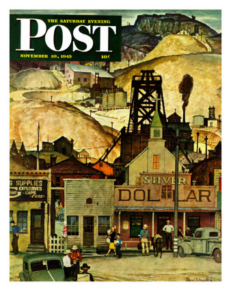 """""""The Silver Dollar,"""" Saturday Evening Post Cover, November 10, 1945 Giclee Print by Mead Schaeffer"""