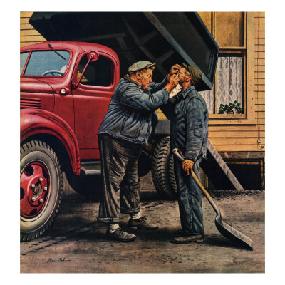 """""""Speck of Coal,"""" October 18, 1947 Giclee Print by Stevan Dohanos"""