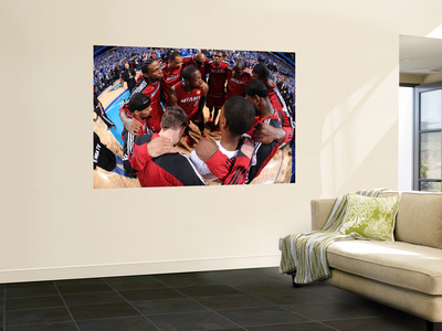 Miami Heat v Dallas Mavericks - Game Four, Dallas, TX -June 7: Dwyane Wade, LeBron James, Udonis Ha Wall Mural