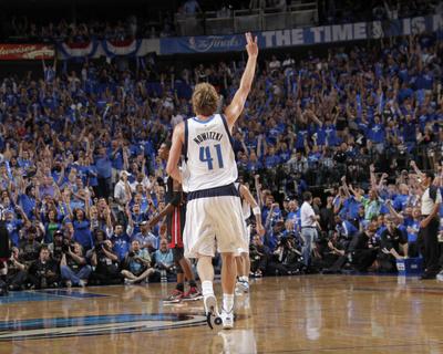 Miami Heat v Dallas Mavericks - Game Five, Dallas, TX -June 9: Dirk Nowitzki Photo by Glenn James