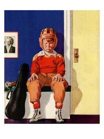 """Musical Sport,"" November 14, 1942 Giclee Print by Lonie Bee"