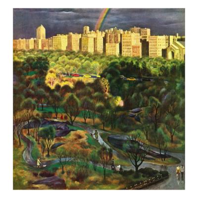 """""""Central Park Rainbow,"""" April 30, 1949 Giclee Print by John Falter"""