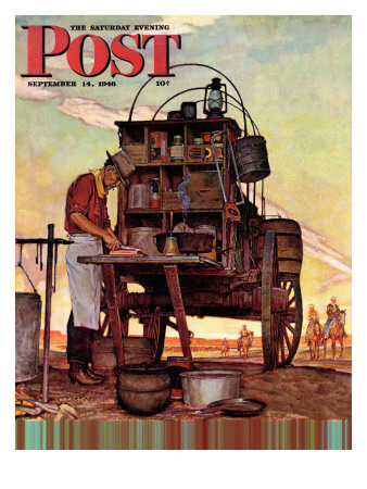 """Chuckwagon,"" Saturday Evening Post Cover, September 14, 1946 Giclee Print by Mead Schaeffer"