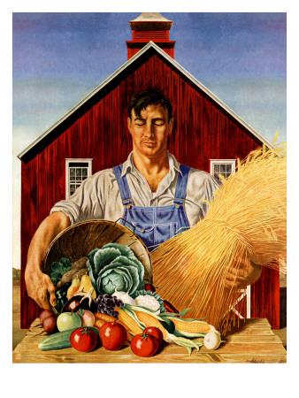 """Fall Bounty,"" September 25, 1943 Giclee Print by John Atherton"