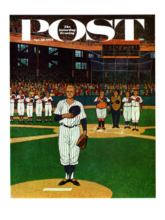 """""""Baseball Fight,"""" Saturday Evening Post Cover, April 28, 1962 Giclee Print by James Williamson"""