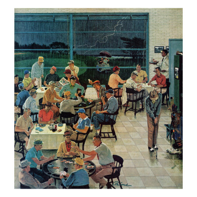 """""""Clubhouse on Rainy Day,"""" July 8, 1961 Giclee Print by Ben Kimberly Prins"""