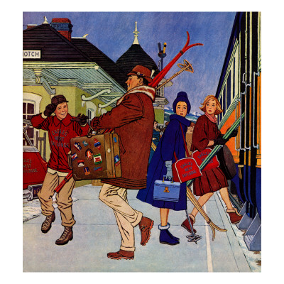 """""""Wrong Week at the Ski Resort,"""" January 14, 1961 Giclee Print by James Williamson"""