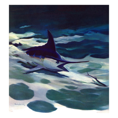 """Swordfish,"" February 28, 1942 Giclee Print by William Goadby Lawrence"