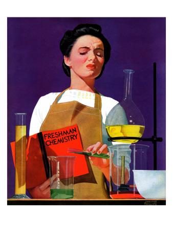 """Freshmen Chemistry,"" May 4, 1940 Giclee Print by John Hyde Phillips"