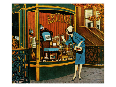 """""""Antique TV,"""" October 27, 1962 Giclee Print by James Williamson"""