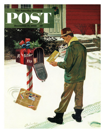 """""""Merry Christmas from the IRS,"""" Saturday Evening Post Cover, December 17, 1960 Giclee Print by Ben Kimberly Prins"""