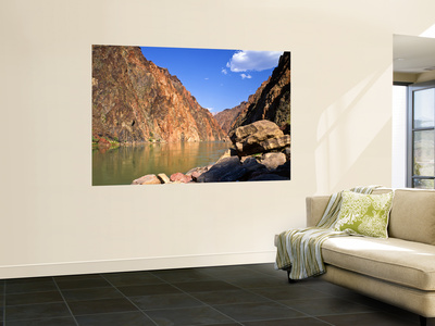 Up River From Above Nevill's Rapid, Grand Canyon National Park, Arizona, USA Wall Mural by Bernard Friel