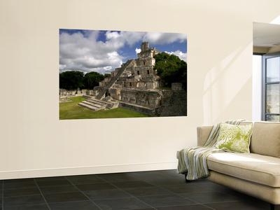 Ruins of Edificio De Cinco Pisos at Mayan Archaeological Site Wall Mural by Doug McKinlay