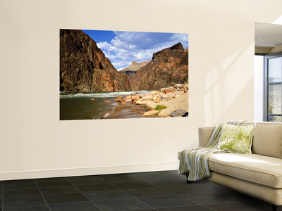 Looking Up River From Below Hance Rapid, Grand Canyon National Park, Arizona, USA Wall Mural by Bernard Friel