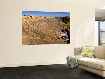 Historical 2Nd Century Roman Theater Ruins in Dougga, Tunisia, Northern Africa Wall Mural by Bill Bachmann