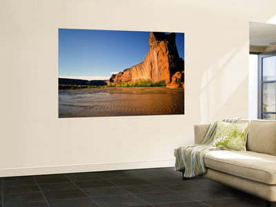 Duck Rock in Morning Light, Canyon De Chelly National Monument, Arizona, USA Wall Mural by Bernard Friel