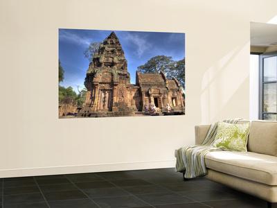 View of Banteay Srei, Angkor, Siem Reap, Cambodia Wall Mural