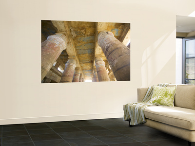 Columns With the Visual Art Work Temple of Karnak, Egypt Wall Mural by Darrell Gulin