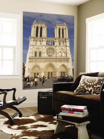 Notre Dame Cathedral, Ile De La Cite, Paris, France Wall Mural by Sergio Pitamitz