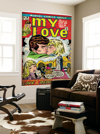 Marvel Comics Retro: My Love Comic Book Cover No.18, Kissing, Love on the Rebound (aged) Wall Mural