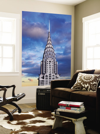 Chrysler Building Wall Mural by Jean-pierre Lescourret