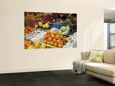 Fruit Stall in Vucciria Market Wall Mural by Olivier Cirendini