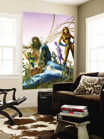 Son Of M No.3 Cover: Quicksilver and Crystal Wall Mural by Roy Allan Martinez