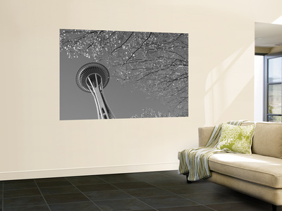 Space Needle, Seattle, Washington, USA Wall Mural by Savanah Stewart