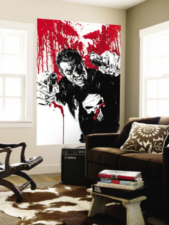 Punisher War Journal No.17 Cover: Punisher Wall Mural by Alex Maleev
