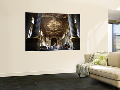 Interior of the Painted Hall at the Old Royal Naval College, Greenwich Wall Mural by Doug McKinlay