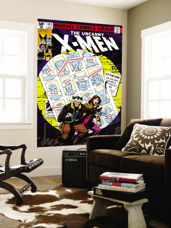 Uncanny X-Men #141 Cover: Wolverine, Pryde and Kitty Charging Wall Mural