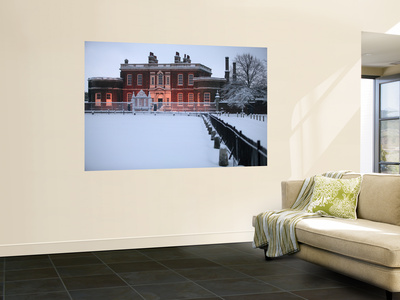 Ranger's House in Snow, Greenwich Park Wall Mural by Doug McKinlay