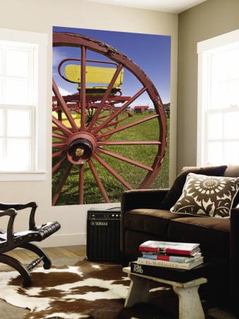 Wagon Wheel at Museo Del Recuerdo Pioneer Museum Wall Mural by John Elk III