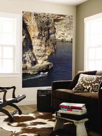 Blue Grotto Wall Mural by Jean-pierre Lescourret