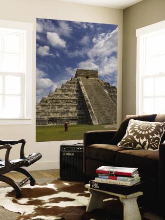 El Castillo, Pyramid of Kukulkan Wall Mural by Sabrina Dalbesio