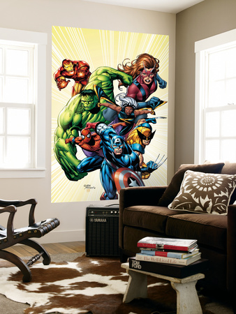 Marvel Adventures Avengers No.8 Cover: Captain America Wall Mural by Sean Chen