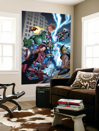 Marvel Adventures The Avengers No.31 Cover: Thor Wall Mural by Salvador Espin