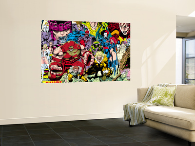 X-Men No.1 Pin-up Group: A Villains Gallery Wall Mural by Jim Lee