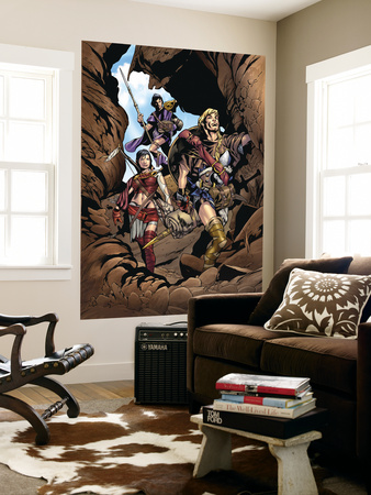 Thor Son Of Asgard No.2 Group: Thor, Sif and Balder Fighting Wall Mural by Greg Tocchini