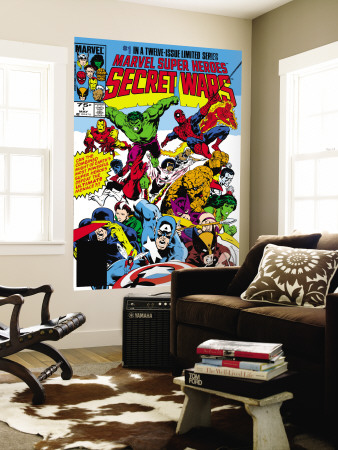 Secret Wars #1 Cover: Captain America Mural