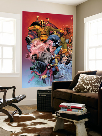 Thor: Tales of Asgard by Stan Lee & Jack Kirby No.3 Cover: Loki Fighting Wall Mural by Olivier Coipel