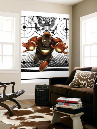 Invincible Iron Man No.8 Cover: Iron Man Wall Mural by Salvador Larroca